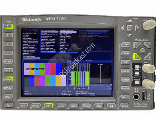 Tektronix WFM7120 Multi-Standard Multi-Format Waveform Monitor SD..