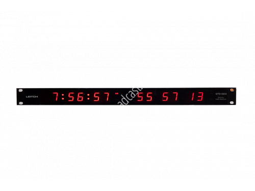 Red LED SMPTE/EBU Timecode Clock 1U Dual Display..