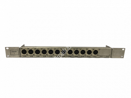 XLR Patchbay 1RU 6 XLR Male 8 XLR Female Neutrik..