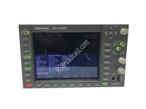 Tektronix WFM8300 Advanced Analog/SD/HD/3G-SDI Waveform Monitor..