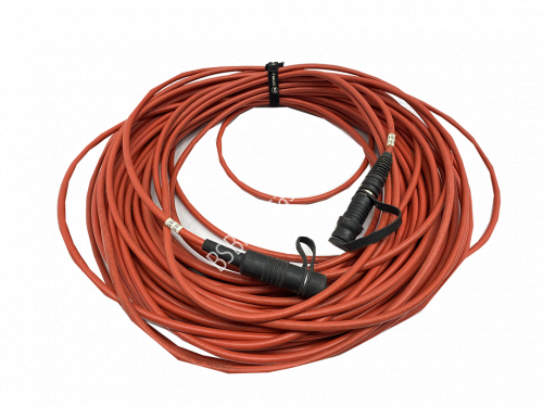 8mm Darak TRIAX cable with FISCHER 1051 CONNECTORS 50 meters..