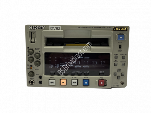 Sony DSR-1500A DVCAM Compact Player/Recorder NTSC 570 hours..