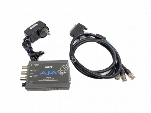 AJA HD10C2 HD/SD-SDI to Analog Converter with power adopter and c..