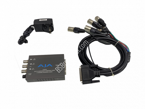 AJA D10CEA SDI to Analog Audio/Video with patch cable..
